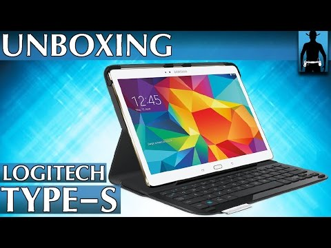 Logitech Type-S Bluetooth-Tastatur für Galaxy Tab S 10.5   Unboxing [deutsch]