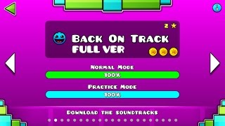 Geometry Dash : Back On Track (FULL VER) All Coin / ♬ Partition