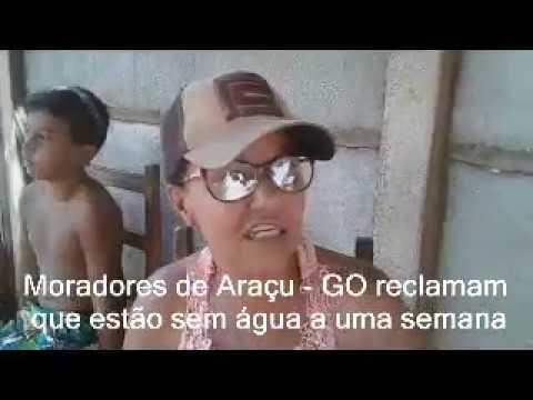 Moradores do Setor Bela Vista, em Araçu, estão sem água há uma semana