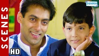 Salman Khan & Aditya Narayan Scenes [HD] Jab Pyaar Kisise Hota Hai - Father Son Videos - Hindi Movie
