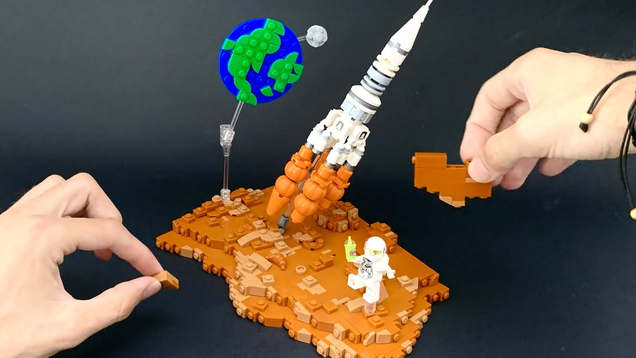 LEGO TIMELAPSE: Mars Spaceship Space Chill LEGO MOC