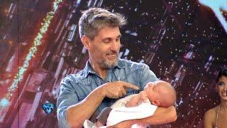 ¡Valentín, el bebé de Lourdes y Chato, por primera vez en Showmatch!