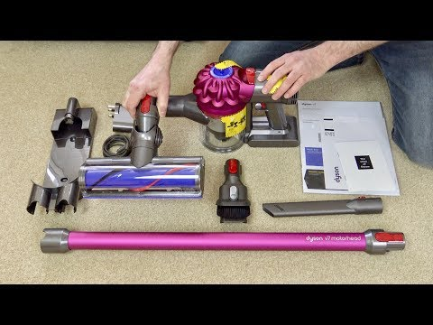 Dyson V7 Motorhead Cordless Vacuum Cleaner First Look & Quick Demo