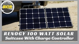 Renogy 100 Watt Solar Suitcase with Charge Controller   Product Review   Portable Solar Solution