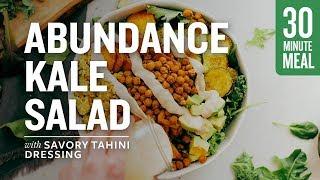 Abundance Kale Salad With Savory Tahini Dressing | Minimalist Baker Recipes