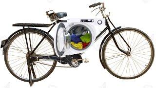 Crea bicicleta eléctrica con motor de lavadora (110 km/h)