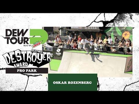 Oskar Rozenberg Men's Pro Park Zumiez Destroyer Award   Dew Tour Long Beach 2018