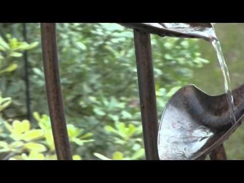 Video for Leaves Aged Copper Bronze Indoor/Outdoor Floor Fountain