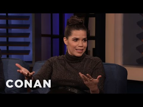 America Ferrera Was Raised By The Television – CONAN on TBS