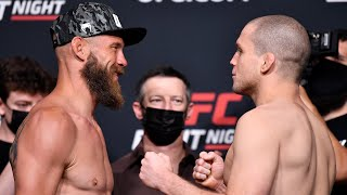 UFC Vegas 26: Weigh-in Faceoffs