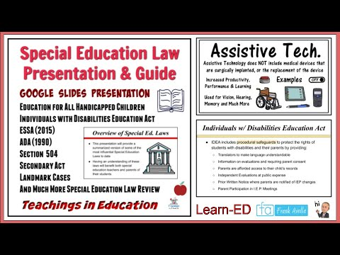 Special Education Law Course - YouTube