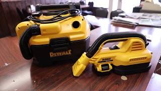 DeWalt...Makes Nice Cordless Vacuums - Dewalt Cordless 18v / 20v Cordless Vac - Review / Demo