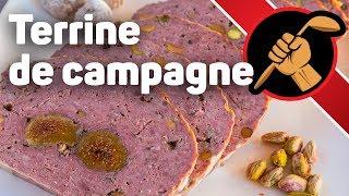 Террин по деревенски (мясной паштет с начинкой из инжира и фисташек)