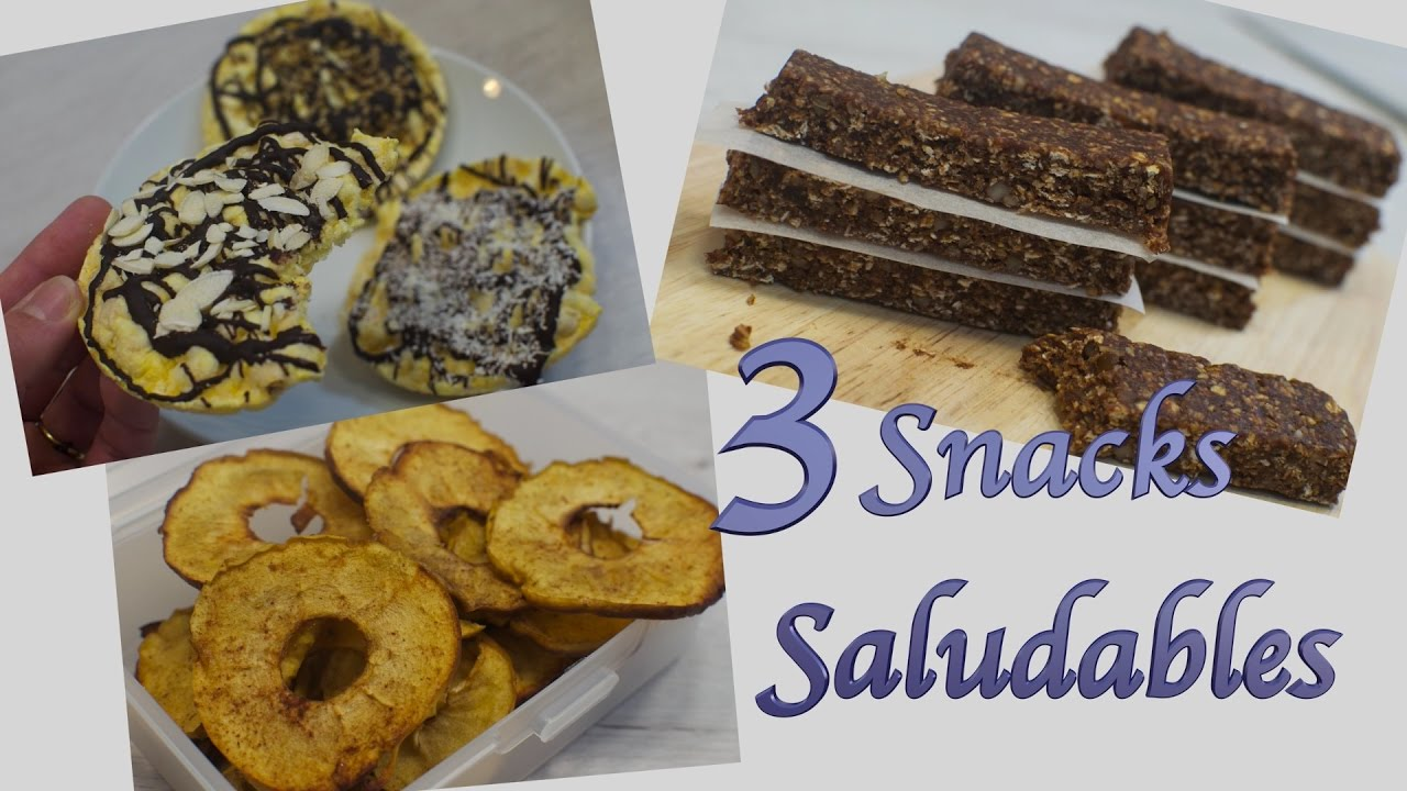Snacks Saludables | Como hacer Snacks Faciles y Rapidos | Snacks Sanos | Snacks de Chocolate