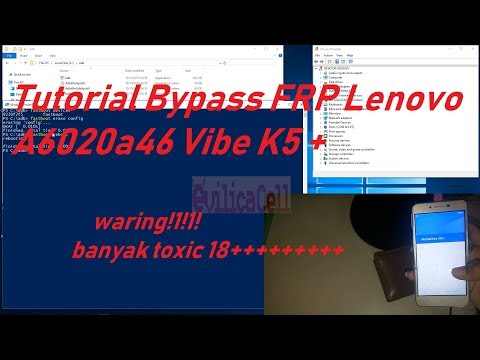 Bypass FRP lock on lenovo k5 By Android Fastboot Reset Tool