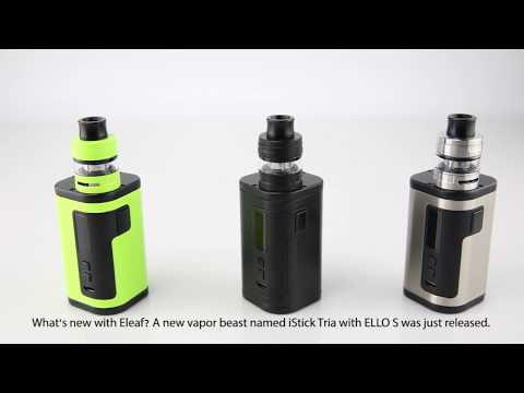 Eleaf iStick Tria с клиромайзером ELLO S (300W, без аккумуляторов) - видео 1