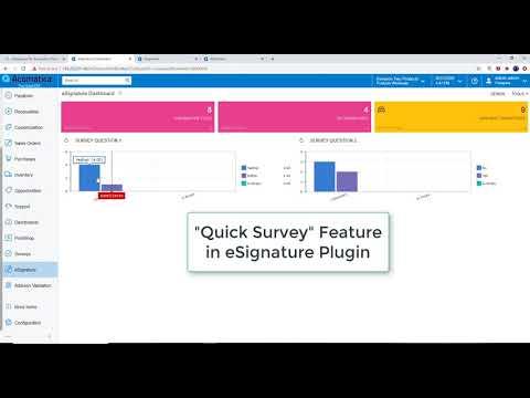 eSignature with Quick Survey new feature in 2019 R2