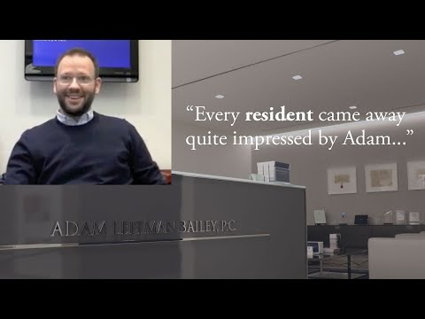 """Every resident came away quite impressed by Adam."" testimonial video thumbnail"