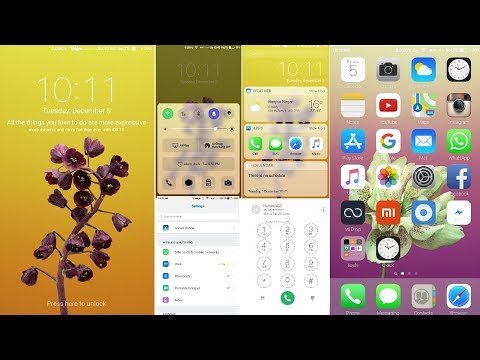 How to install and apply PURE iOS11 iPhone Theme on any Android Phone Specially Redmi(Mi)