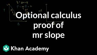 Optional Calculus Proof to Show that MR has Twice Slope of Demand