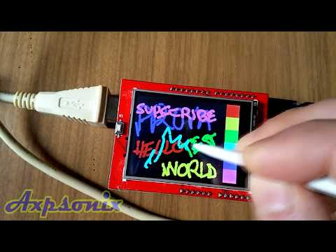 LCD Display 2.4 inches ILI9341 touch screen 240x320 Arduino from Banggood (Ita)