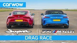 Toyota Supra v BMW Z4 - DRAG RACE, ROLLING RACE & BRAKE TEST
