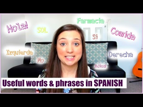 Useful words & phrases for your trip to Spain!