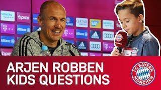 """Robbie? I'll Convince The Lads!"" | Arjen Robben Answers FC Bayern KidsClub Questions"