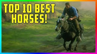 Top 10 Best, Fastest & MOST Rare Horses In Red Dead Redemption 2 - How To Get FREE Horses! (RDR2)