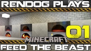 [S1E1] Let's Play Minecraft Feed The Beast - Auto-Furnace Room!