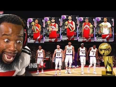 FULL OPAL 99 OVERALL NBA CHAMPIONSHIP TORONTO RAPTORS LINEUP! NBA 2k19