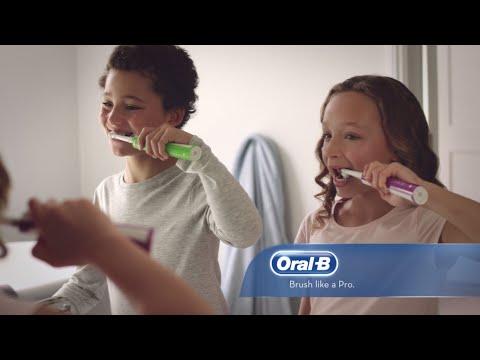 Elektrinis dantų šepetėlis Braun Oral-B Junior Pro Sensi UltraThin kaina ir informacija | Elektriniai dantų šepetėliai | pigu.lt