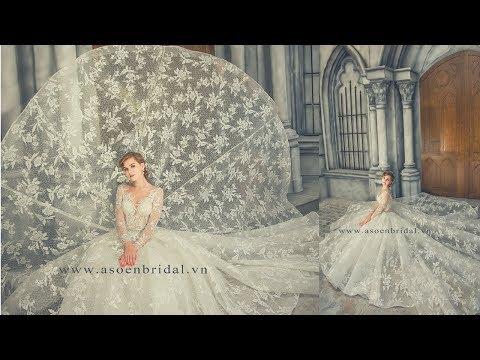 Áo cưới đẹp Asoen Bridal - Mẫu áo cưới ấn tượng trong BST 2018