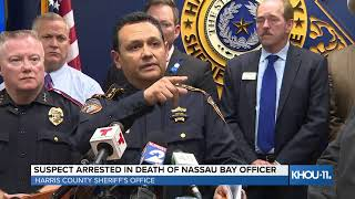 WATCH LIVE: Harris County Sheriff's Office on arrest of suspect in death of Nassau Bay officer