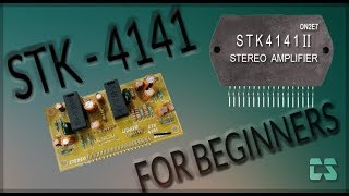 stk4141 board wiring and how to assemble a amplifier using stk4141 ic at  very low cost