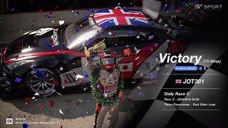 JOT381 GRAN TURISMO SPORT 200918 TOKYO EXPRESS NISSAN GT-R 2nd to 1st ONLINE RACE 10 LAPS 775th WIN