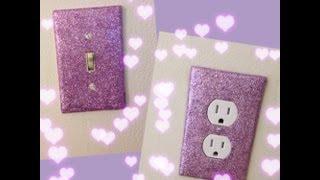 DIY:Glitter Wall Plates