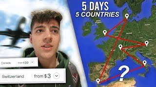 I Took the CHEAPEST Flight EVERYDAY for a WEEK… (How did I end up here)