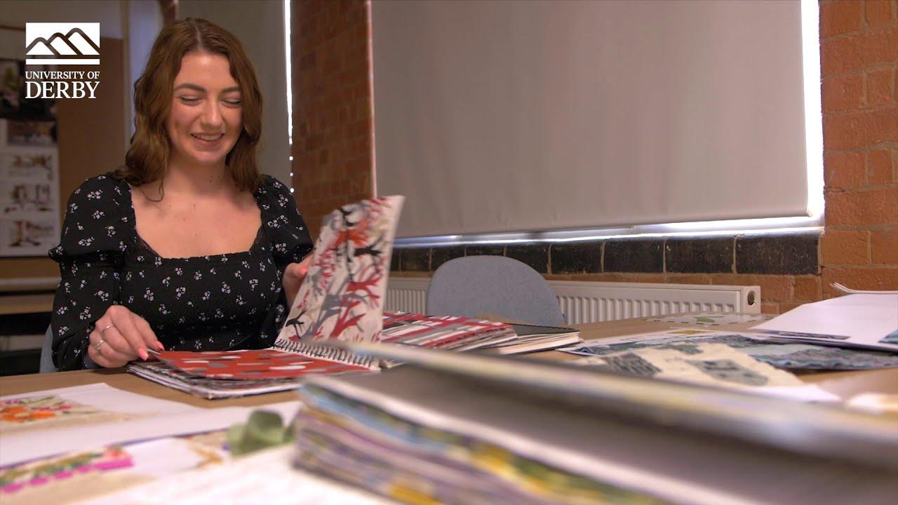 BA (Hons) Textile Design student, Saffron.