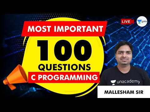 100+ Most Important Questions on C Programming   GATE (CSE/IT ...