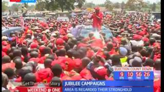 President Uhuru kenyatta passes through Kitale ahead of campaigns in Kericho