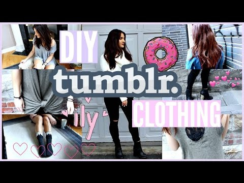 EASY DIY TUMBLR Inspired CLOTHES!!!!