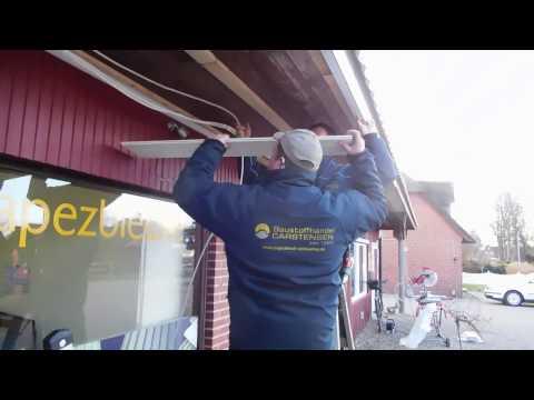 Dachunterschlag aus PVC-Paneelen richtig montieren