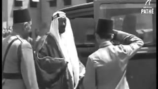 الملك فاروق يستقبل الملك سعود وبعض ملوك العرب ١٩٤٦م