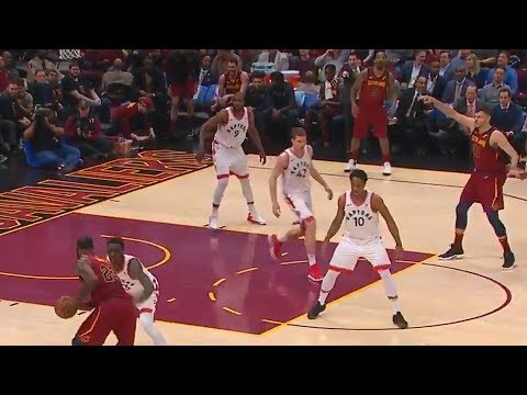 LeBron James Cross Court Pass to JR Smith is Amazing!
