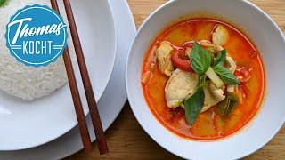 Rotes Thai Curry mit Huhn/ Rezept aus Thailand / Thomas kocht