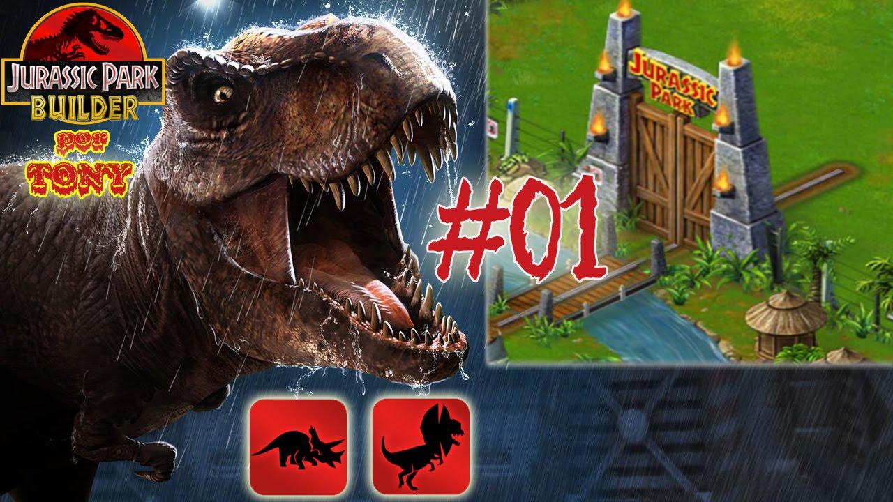 Ver Jurassic Park Builder «Capítulo 1 – Conseguir dinosaurios: Triceratops y Dilophosaurus» por Tony en Español Online