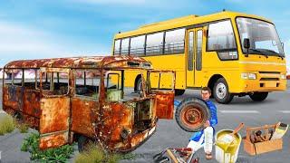 स्कूल बस मरम्मत School Bus Restoration Comedy Video हिंदी कहानिया Hindi Kahaniya Hindi Comedy Video