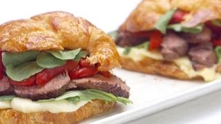 How To Make Giadas Parisian Steak And Cheese Croissant Sandwiches   Food Network
