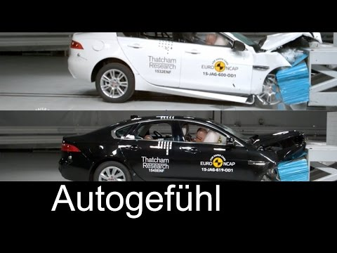 All-new Jaguar XF vs Jaguar XE crash test comparison 2016 neuer - Autogefühl